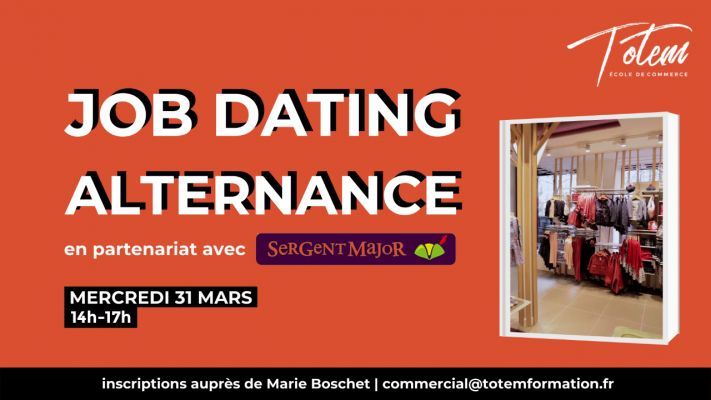 Job Dating Alternance - avec Sergent Major